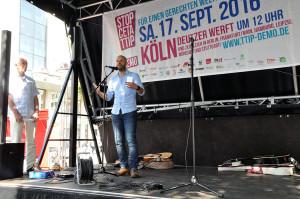 Redner Marco Bülow beim Dortmunder Aktionstag gegen CETA/TTIP am 10.09.2016